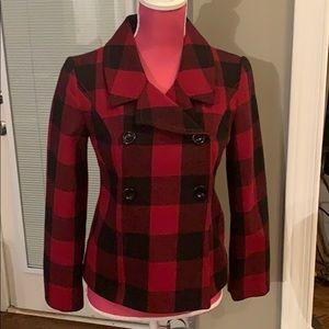 Gap Buffalo Plaid wool jacket GUC size XS